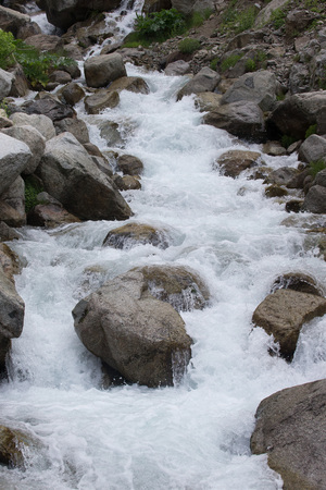 hardwoods: Stream of mountain river Stock Photo