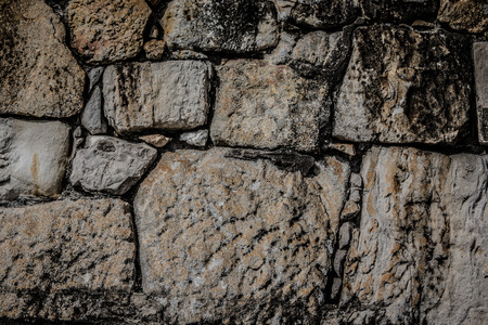 Natural stones are folded in wall. Background. Stok Fotoğraf
