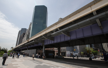 pedestrian area of Manhattan