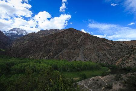 morskie: Neighborhood of Iskander Kul lake. Fann Mountains. Tajikistan. twilight