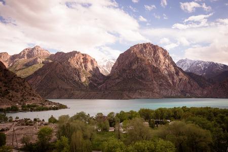 expanse: Expanse of Lake Iskander-Kul. Tajikistan. tinted