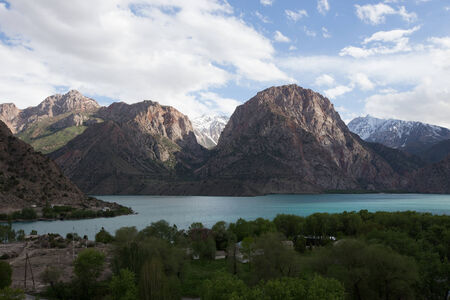 expanse: Expanse of Lake Iskander-Kul. Tajikistan.