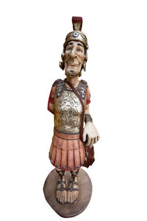 soldati romani: I soldati romani allegro isolato su sfondo bianco