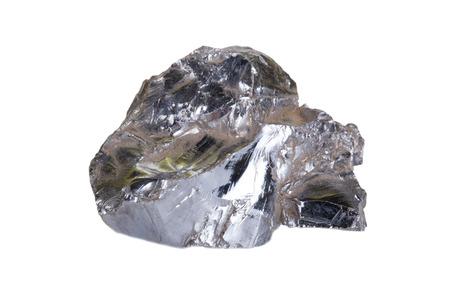 shining stone isolated on white background photo