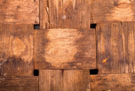 interweaving: interweaving veneer old antique basket.