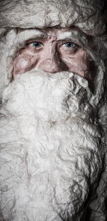 papiermache: Portrait of toy Santa Claus