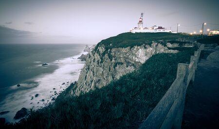 roca: Cabo da Roca cape lighthouse in Portugal.