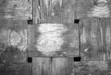 veneer: interweaving veneer old antique basket.