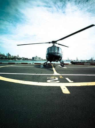 Helikopter klaar voor start op Manhattan