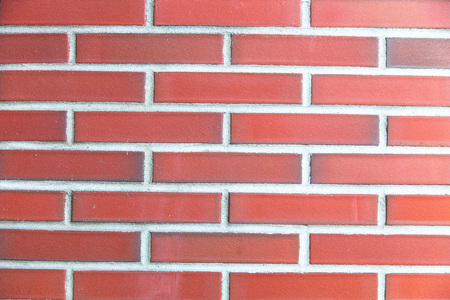 without window: New red brick wall without window. Background.