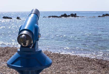 Spyglass on the Mediterranean Sea. photo