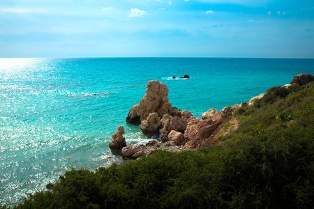 Petra tou Romiou, de geboorteplaats van Aphrodite. Paphos, Cyprus