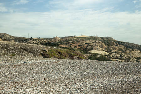 afrodita: No altas monta�as de Chipre, cerca de la piedra Afrodita. Foto de archivo