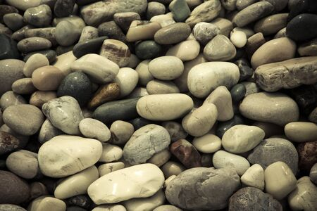 pebble: wet stones pebble beach. Stock Photo
