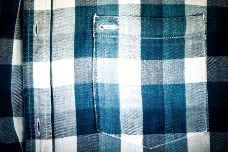 flannel: Flannel checkered background. Toned. Stock Photo