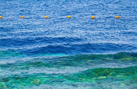 Buoys on the sea in Egypt photo