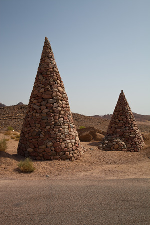 ras: Stone cones in the nature reserve of Ras Mohamed Egypt.