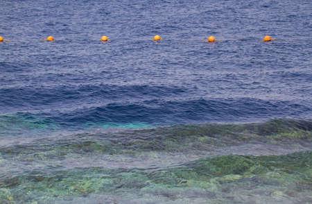 Buoys on the sea. Egypt. Shallow depth of field. photo