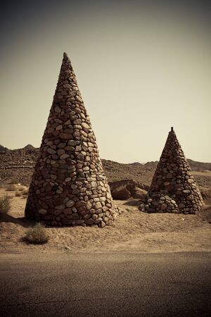 mohammed: Stone cones in the nature reserve of Ras Mohamed Egypt. Toned.