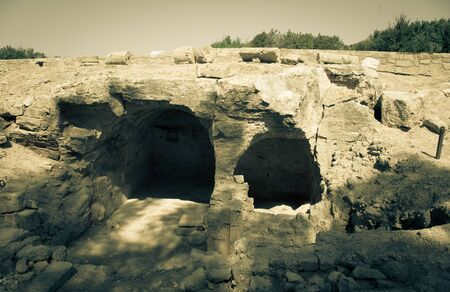 excavations: The excavations of ancient settlements. Toned.
