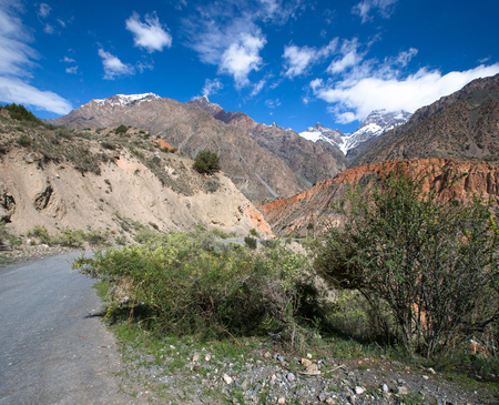 hilly: Hilly landscape in the Fan Mountains. Pamir. Tajikistan.