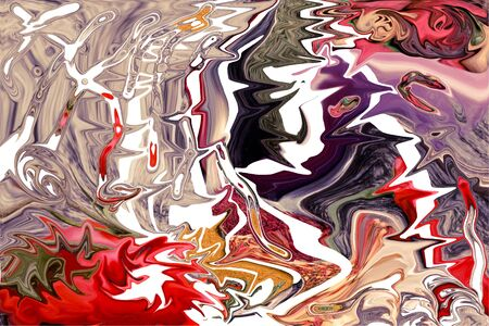 partially: Colorful abstract drawing - background is partially blurred.