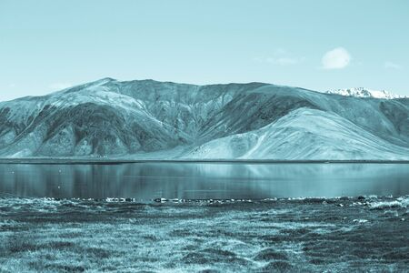 expanse: Expanse of Lake Bulun-Kul. Tajikistan. Toned.