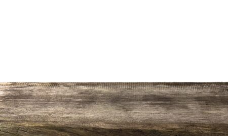splintered: Wooden background of the very old board.The end boards with the bark beetle moves Stock Photo
