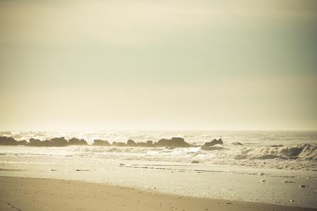 ocean waves: Ocean waves on a sandy beach. Florida USA. Toned.