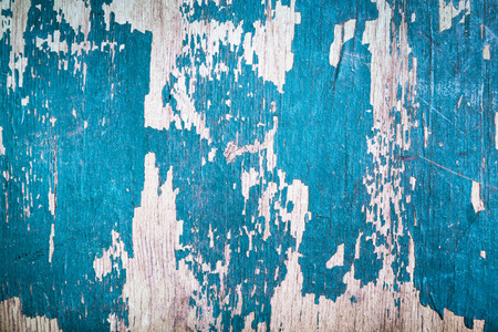 remnants: old wooden board with the remnants of paint