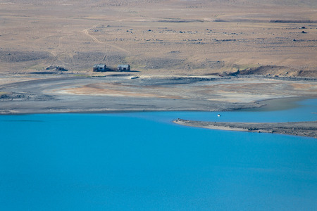 spring  tajikistan: View on lake in spring season in Pamir mountains . Tajikistan. Selective focus. Archivio Fotografico