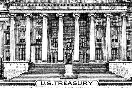 unum: Close up macro detail of dollar money banknotes. Toned.