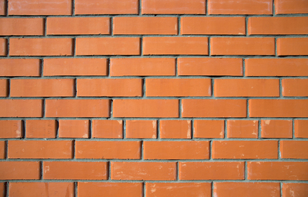worn structure red: Texture of red brick wall background, modern architecture. Stock Photo