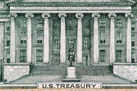 pluribus: Close up macro detail of dollar money banknotes.