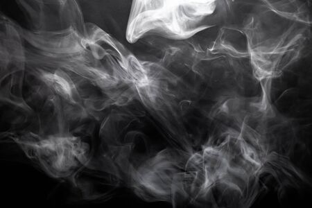 black smoke: Smoke on a black background. Defocused. Toned. Stock Photo