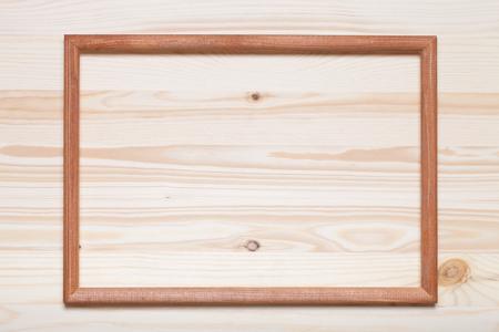 marco madera: Nueva textura de madera con marco de fotos para el fondo.