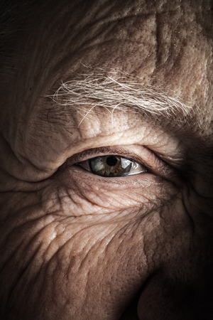 Portrait of elderly woman. Closeup view. Toned. Reklamní fotografie