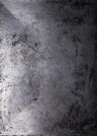Black metal achtergrond. Het oppervlak van de pan in de oven.
