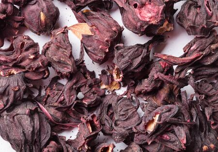 nontraditional: Hibiscus tea as texture for background.