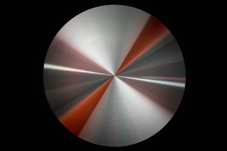 shiny metal: Shiny metal circle with reflections. Stock Photo