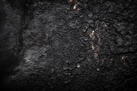 oxidized: Black old metal background. The surface of the pan. Toned.
