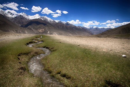 hilly: Hilly landscape in the Tajikistan. Pamir.