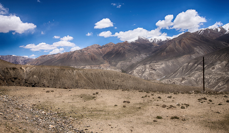 Hilly landscape in the Tajikistan. Pamir.