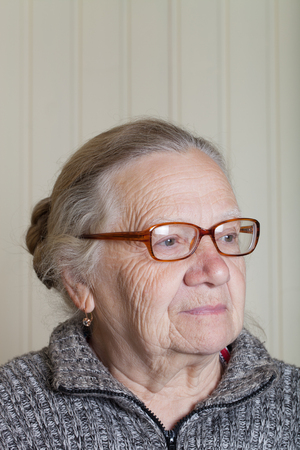 grayness: Portrait of an elderly woman.