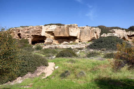 past civilizations: Ancient ruins in the Archaeological Park of Paphos, Cyprus.