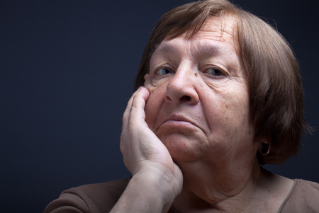 perplexity: Portrait of elderly woman. Perplexity.