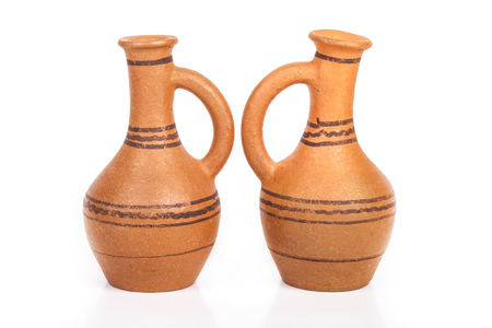 Empty ceramic jag on a white background.