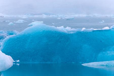 Iceberg lagoon jokulsarlon on the south of Iceland. Toned.