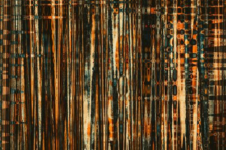 contrasting: Abstract color patterns on a dirty retro texture. Toned.