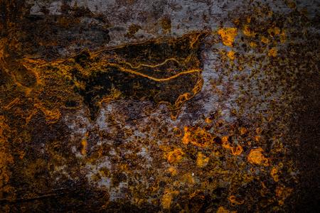 배경에 대 한 오래 된 더러운 금속 표면입니다. 톤.